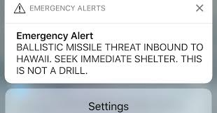 hawaii panics after alert about incoming missile is sent in error the new york times