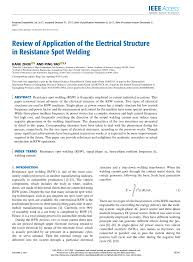 Resistance Welding Transformer Design Pdf Review Of Application Of The Electrical Structure In