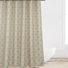 eforcurtain extra long decorative white quatrefoil fabric khaki bath curtain geometric pattern 72 by 78 inch waterproof mildew resistant shower curtains