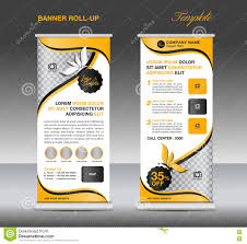 Spa Banner Design Yellow Roll Up Banner Stand Template Banner Design Stock