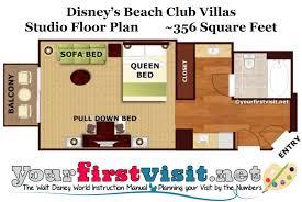 disneys beach club villas renovated studio floor plan
