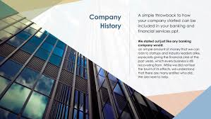Powerpoint History Free Bank Company History Powerpoint Slide Templates