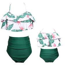 flouncing <b>mother daughter bikini swimsuit</b> mommy and me ...
