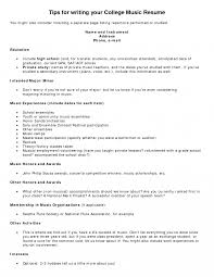 How To Write Professionalusic Resume For College Application