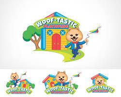 Astig Logo Design Bold Modern Pet Care Logo Design For Woof Tastic Playhouse