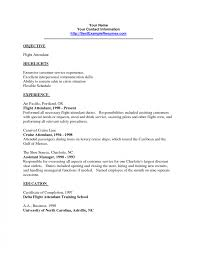 Flight Attendant Objective Resume Examples Flightant Resume No Experience Entry Level Objective Sample Prior 17