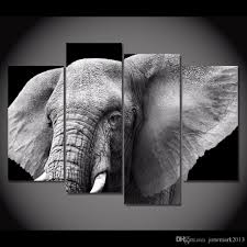 framed hd printed black white elephant tusks ear picture wall art canvas print decor poster canvas modern oil painting nude painting art 5 panel canvas wall  on african elephant canvas wall art with framed hd printed black white elephant tusks ear picture wall art