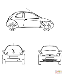 Ford Mustang 2015 coloring page | Free Printable Coloring Pages