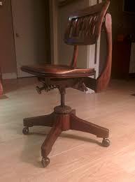 antique swivel sikes of buffalo walnut office chair 1930s antique swivel office chair