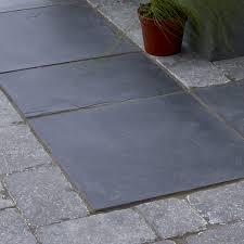 image of slate white paving slabs