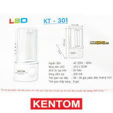 Đèn sạc khẩn cấp Kentom KT 301 🔥 Ánh sáng trắng