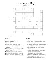 Small Picture New Years Crossword Puzzle Answers at httpwwwelcivicscomesl