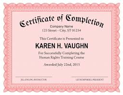 Formal Certificates Formal Certificate Of Completion Template