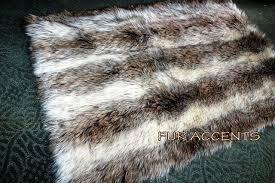 faux fur area rug grey