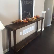 rustic console table sofa long skinny