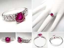 antique ruby diamond enement ring wm7393