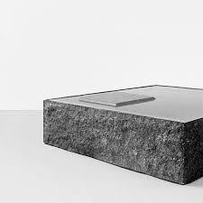 contemporary coffee table stone square