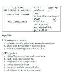 Quality Incident Report Template
