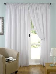 evie lined white voile curtain