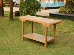 Jakarta console teak table larger photo