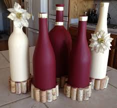 How To Decorate A Bottle Of Wine Lovable Golden Wine Bottle Decorating Ideas With Spray Paint And 31
