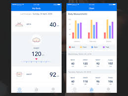 Body Measurement Tracker App By Tanya Anokhina On Dribbble