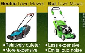 gas mower. differences between gas and electric law mower