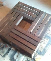 ... Cozy Teak Sqaure Minimalist Unique Wood Wine Crate Coffee Table Ith  Storage Design ...