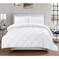 white pleated comforter. Unique Pleated 3 Piece Luxurious Pinch Pleat Decorative Pintuck Comforter Set  HIGHEST  QUALITY WRINKLE RESISTANT With White Pleated A
