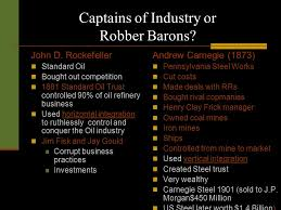 robber baron vs captain of industry essay term paper academic service robber baron vs captain of industry essay