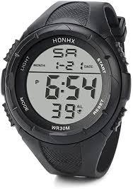 Fullfun HONHX Men's LED Digital Alarm Sport Watch ... - Amazon.com
