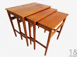 hans wegner andreas tuck nesting tables modern coffee mid century danish vintage furniture used available