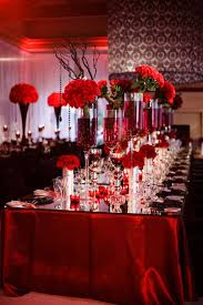 decoration for table. Elegant Decorations Wedding Table Lights. Red And White For A Black Decoration