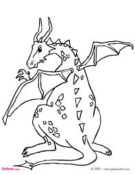 Coloriages Pour Gar On Le Dragon Concernant Dessin Dragon Enfant