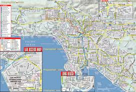 los angeles map  freeway  highway system driving navigation map