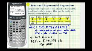 ex perform exponential regression on a graphing calculator