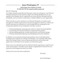 Best Physical Therapist Cover Letter Examples Livecareer Therapy
