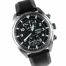 men s watch seiko snn231 2 chrono quartz movement leather strap