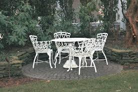 white vintage wrought iron patio furniture antique rod iron patio