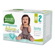 Seventh Generation <b>Free</b> and <b>Clear</b> Sensitive Skin Baby <b>Diapers</b> ...