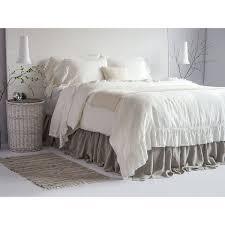 100 linen luxury french vintage ruffled duvet cover set european 100