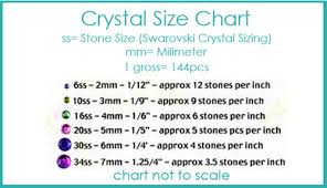 Swarovski Hotfix Crystals Size Chart Sues Sparklers Swarovski Crystal Round