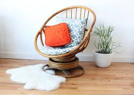 vintage bamboo swivel rocking chair and ottoman rattan reading with design 16