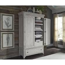 White armoire wardrobe bedroom furniture Distressed Farmhouse Reimagined Antique White Armoire Caragabungjoinmemberoriclub Bedroom Furniture