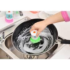 <b>Automatic Liquid</b>-adding Brush Pot Washer Brush <b>Kitchen</b> Wash ...