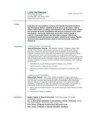 Teaching Sample Resume Sample Of Resume For Teaching Job Teacher Job