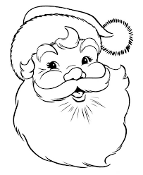 A Happy Merry Christmas From Santa Coloring Page Download Print