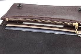 mens zipper wallet buffalo biker billfold chain leather