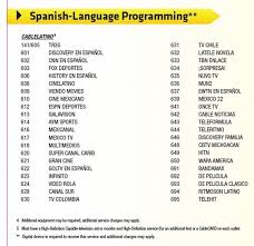 Spanish Tv Chanel Comcasts Current Xfinity Tv Lineup Shows 42 Spanish Language
