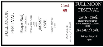 Free Editable Raffle Movie Ticket Templates Template For Tickets
